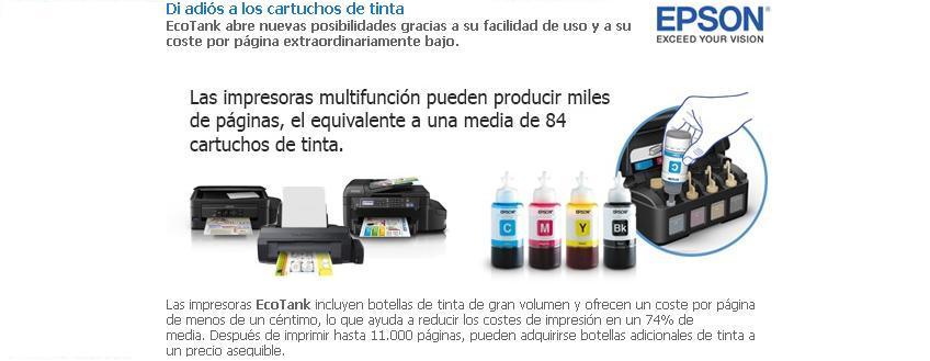 Di adiós a los cartuchos de tinta con las nuevas impresoras Epson Ecotank